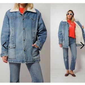 1970's Vintage Lee Storm Rider Sherpa Jean jacket